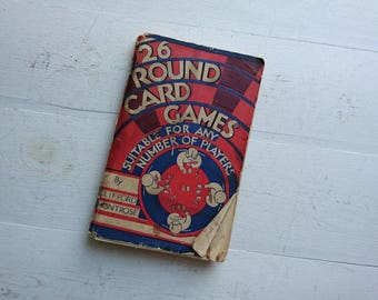 26 Card Games by Clifford Montrose, Vintage Card Games, Round Card Games, Card Games