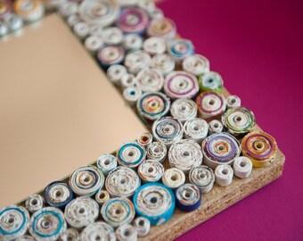 Decorative Mirror,Handmade Mirror,Recycled paper
