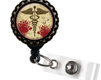 Medicine for Life - Black Retractable Badge Reel ID Holder