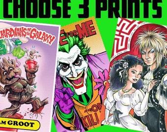 3 PRINTS FOR 25 BUCKS (Your Choice of Prints)