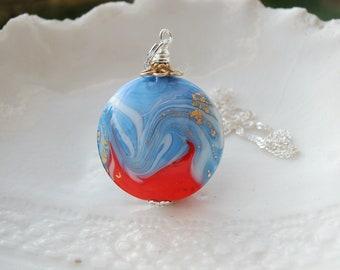 Collier bicolore en verre de Murano