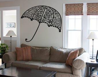 Wall Decal Sticker Bedroom umbrella  boy girl teenager teen kids room 090d