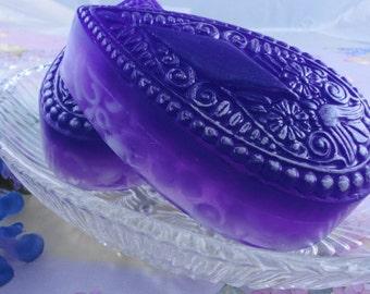 Purple Rain Victorian Teardrop Soap - Glycerin Soap - Handmade Soap - Prince Inspired Soap - Purple Rain - Artisan Soap -  SoapGarden