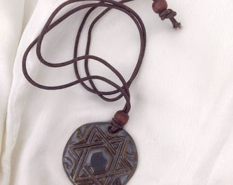 Star Ceramic Handmade pendant