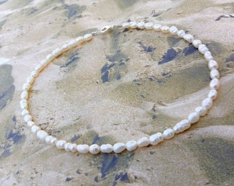 Pearl Ankle Bracelet, Beaded Anklets, Handmade Ankle Bracelets, Summer Jewelry, Nautical Body Jewelry, Custom Jewelry, Beach Anklet, Anklet.