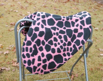 Custom Pink and Black Saddle Cover - Custom All-Purpose Saddle Cover