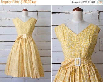 SALE opening night dress  //  vintage 1950s cotton dress