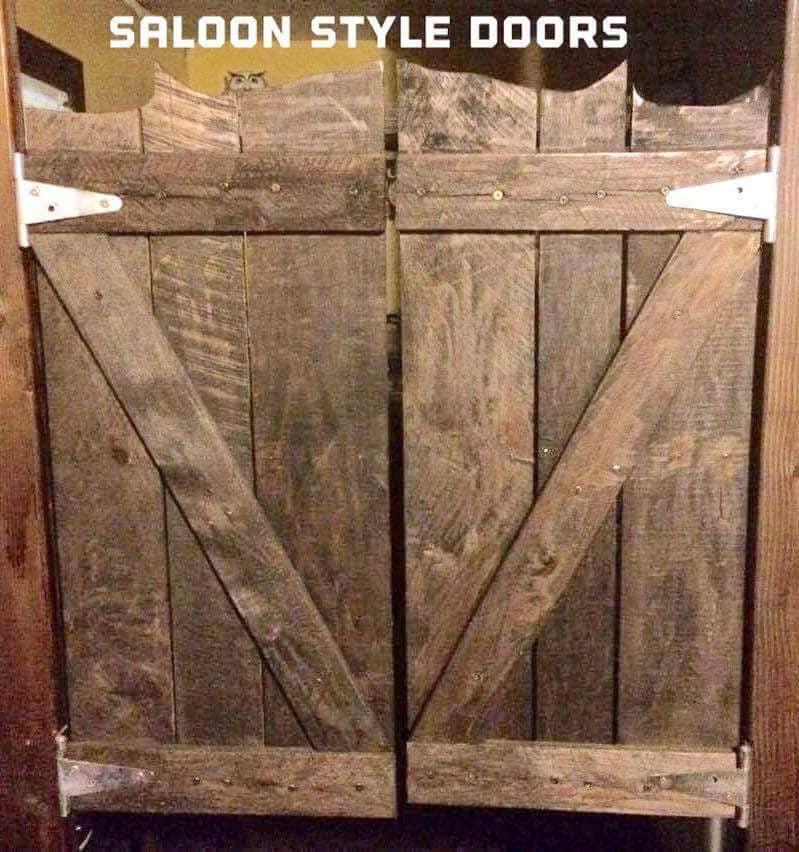 Rustic Reclaimed Pallet Wood Saloon Doors