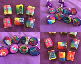 Trolls Hershey's Kisses Labels / envelope seals, or Hershey's Nuggets Labels / party favors