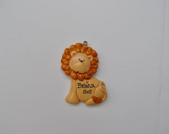 Personalized  Lion Christmas Ornament/Lion /Childrens ornament