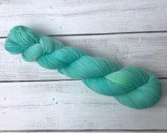 Tiffany Box - Hand Dyed BFL High Twist Fingering Sock Weight Yarn - Superwash BFL/Nylon Blend - 400 Yards - 100 Grams