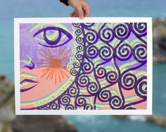 Wall art print minimal abstract pastel wall decor modern women art print for home decor office decor giclee print living room decor gift