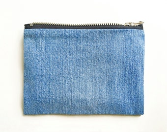 Denim Pouch - Hand Crafted from Salvaged Jeans