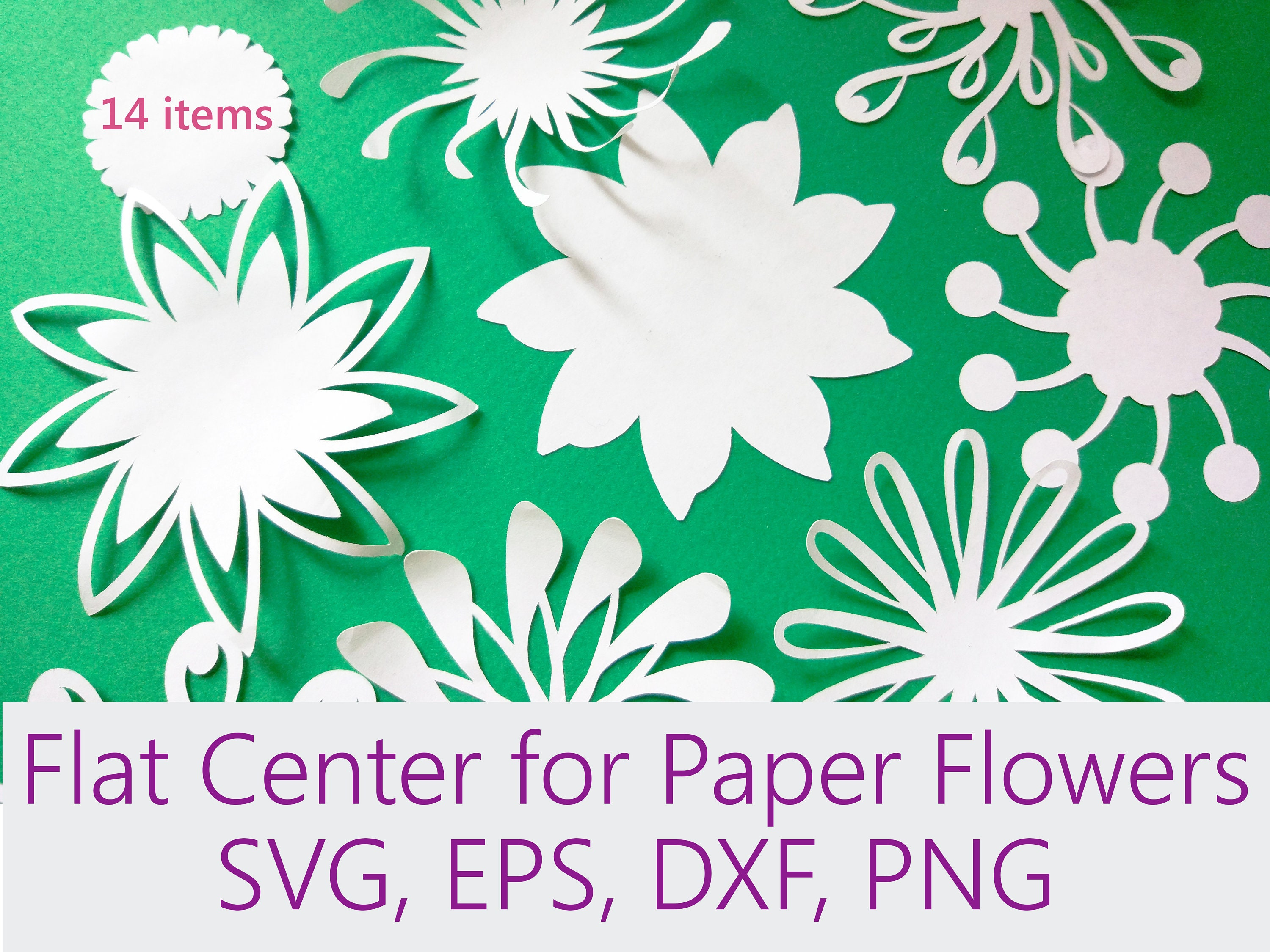 Flat Center For Paper Flowers Peper Flower Parts Template