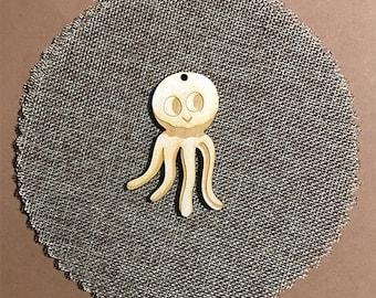 Set of 20 Baptism wooden bomboniere accessories -  The octopus