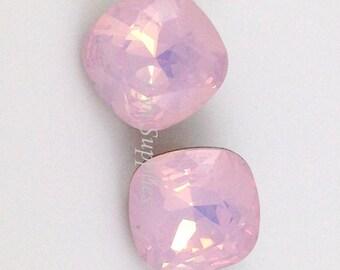 4470 ROSE WATER OPAL 12mm Swarovski Crystal Fancy Stone Cushion Cut
