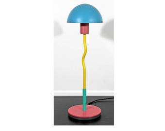 Contemporary Pink Blue Yellow Memphis Table Desk Lamp By Products of London