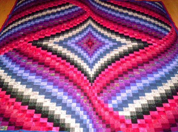 Diamond And Ribbons Bargello Quilt Pattern