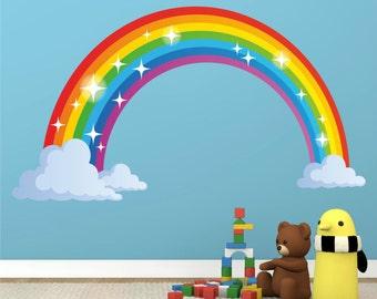 Rainbow Full Colour Wall Sticker Decal Kids Boys Girls Poster Vinyl in 3 sizes