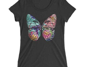 Butterfly Tshirt - Butterfly T Shirt - Womens T Shirt - Butterfly Graphic Tee