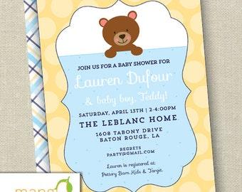 Teddy Baby Shower Invitation Printable