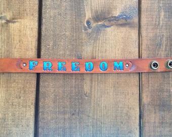 Freedom Leather Cuff