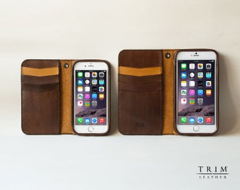 iPhone 6s Leather Wallet, iPhone 6s Plus Leather Wallet, iPhone 6 Leather Wallet, iPhone 6 Plus Leather Wallet [Handmade] [Custom Colors]