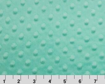 Mint Opal Dot Minky Fabric - Shannon Fabrics minky fabric
