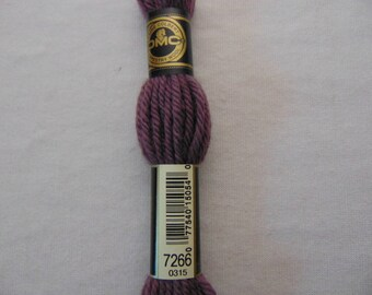 Cotton canvas, DMC wool Colbert E_7266 486, violet wood