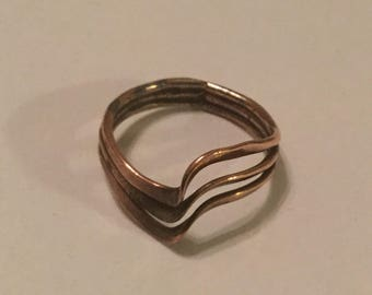 Sweet Little Copper Twist Ring