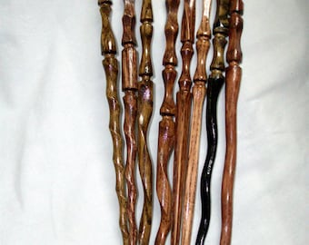 8 Random Harry Potter Inspired Hand Carved Magic Wands