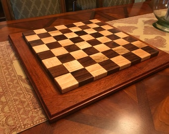 Curly Maple and Walnut Chessboard