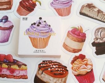 Colourful Cakes Sticker Set