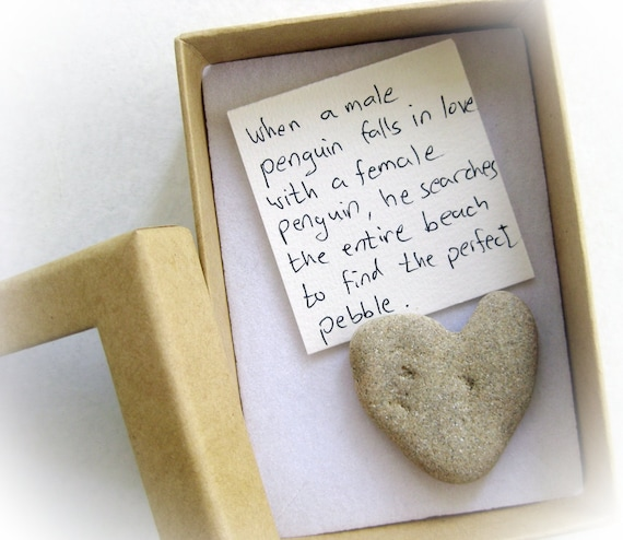 unique valentine's card for her a heart shaped rock in a