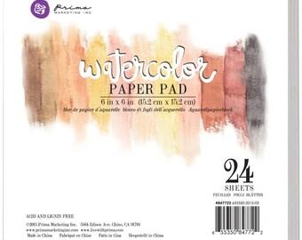 """Prima Marketing Watercolor Paper Pad 6""""X6"""" #847722"""