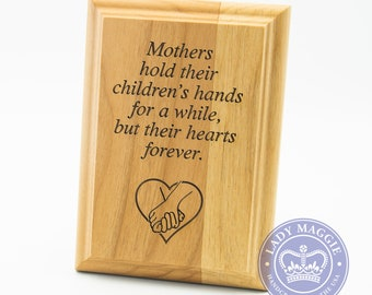 Mothers Poem Wooden Plaque - Mother's Day Gift - Engraved 5x7 Red Alder Wall Plaque - Gift for Mom Plaque - Mom Child Poem Wall Hanging