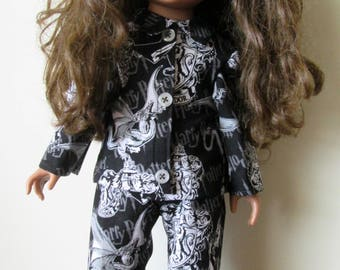 Cute Pajama's for 18 Inch Doll
