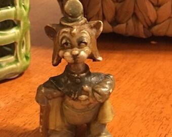 Walt Disney's Pinocchio Gideon Cat Vintage Figurine