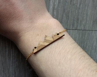 Origami mountain Gold Bracelet