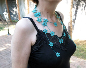 PDF Tutorial  Pattern... Crochet Scarf, Lariat  Necklace with Seed Beads