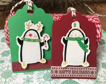 Christmas gift tags, gift tags, paper tags