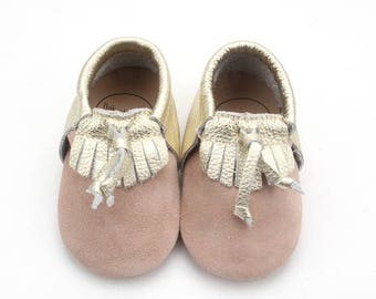 Gold Leather Moccasin