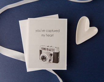 You've captured my heart photography greeting card