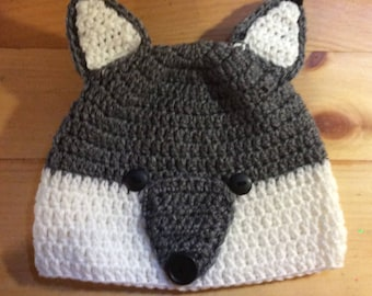 Adult Wolf Beanie Style Woodland Critter Hat: costume,winter