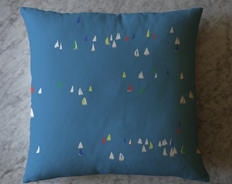 Pillow with Sailboats. February 16, 2016