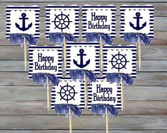 12pack Happy Birthday Cupcake Decoration Topper Picks