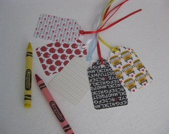 Teachers Gift tags, school themes gift tags, 12 pc.