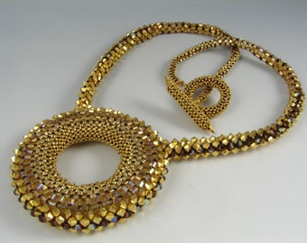 Golden Circle Necklace Tutorial
