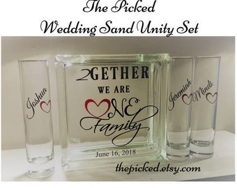 Blended Family Sand Ceremony Unity Set-Together We Make a Family-Wedding-Marriage-Commitment-TPUWUS40