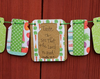 Psalm 34:8 Scripture Bunting